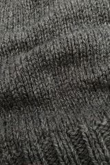 Dutch wool taupe detail of knit.