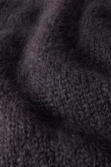 Mohair dark gray detail knit.