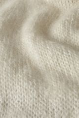 Mohair off-white detail.