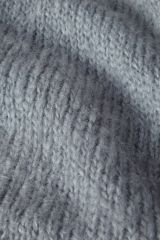 Mohair light blue detail knit.