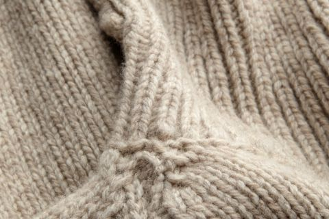 Bram unisex sweater merino wool detail knit.