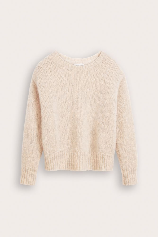 Daan mohair wool sweater from Dutch goats packshot.
