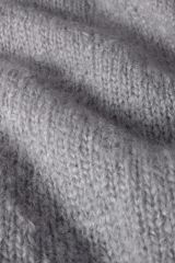 Mohair light gray detail knit.