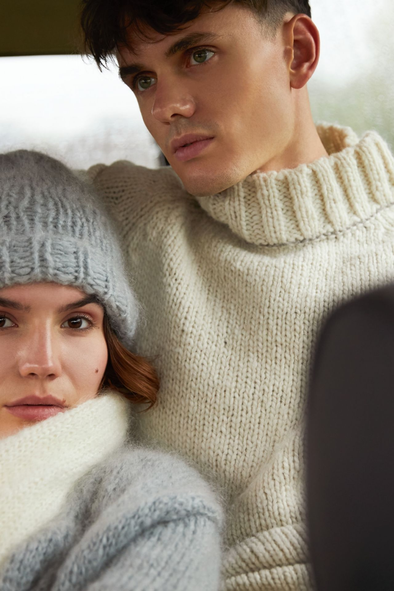 Dirko men's sweater wool mix and alpaca ambience picture.