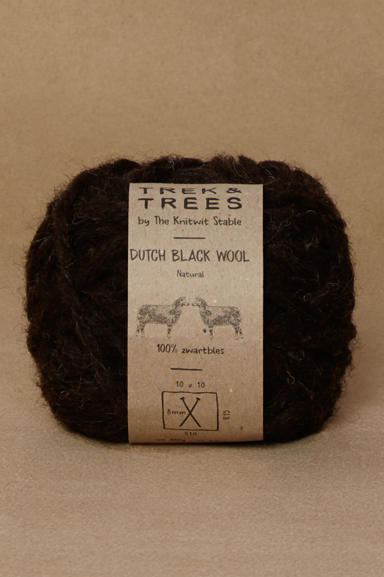 Dutch black wool packshot.