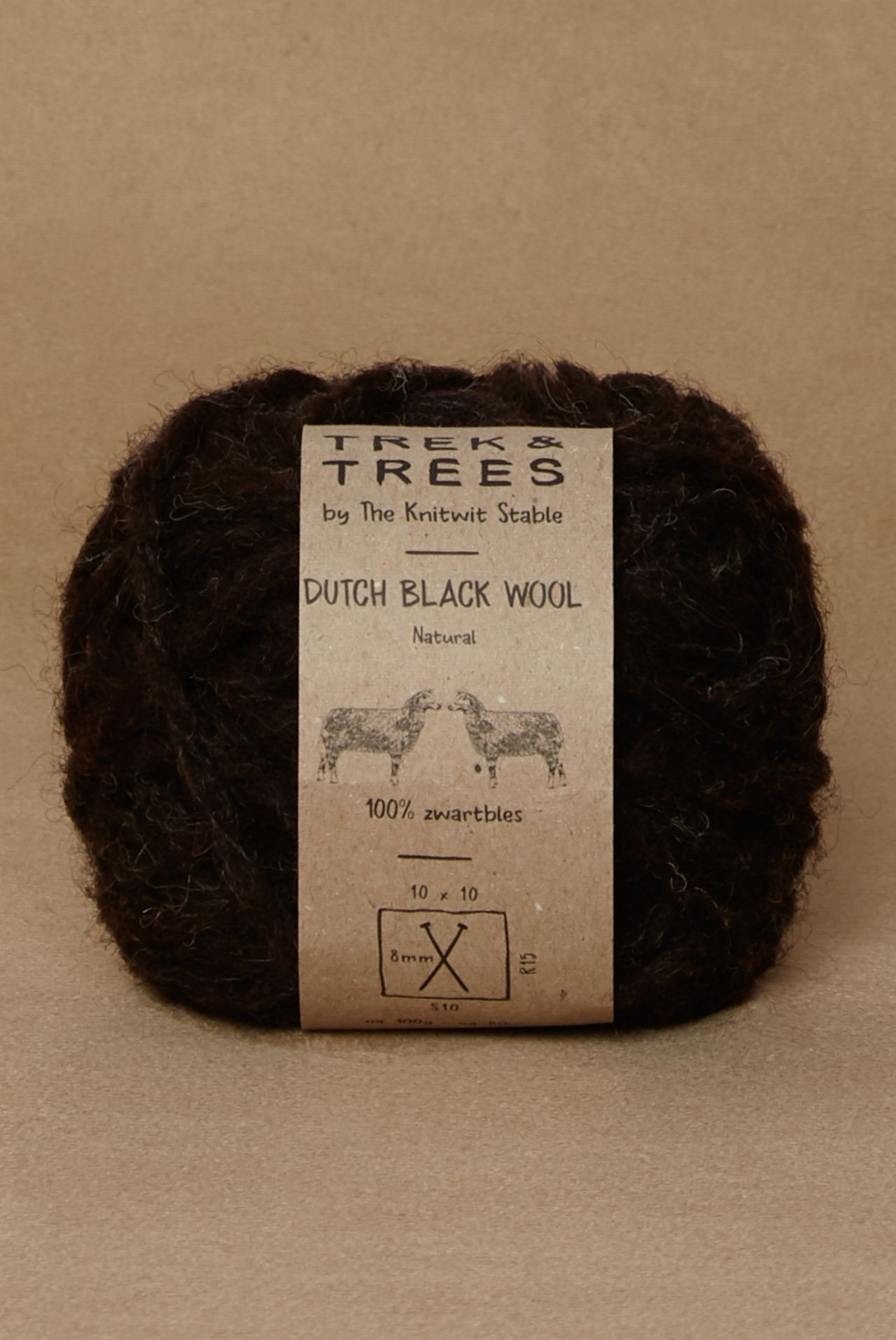 Dutch black wool packshot.