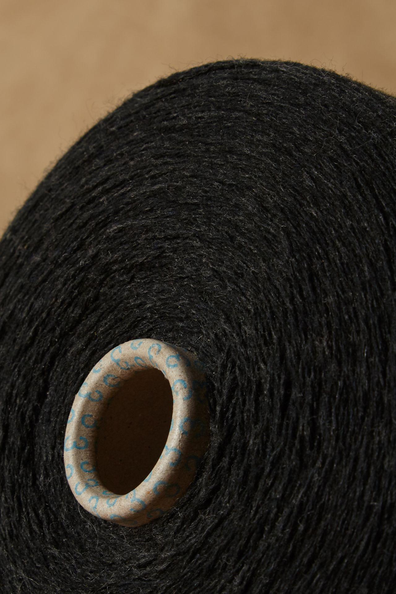 Dutch merino wool yarn detail.