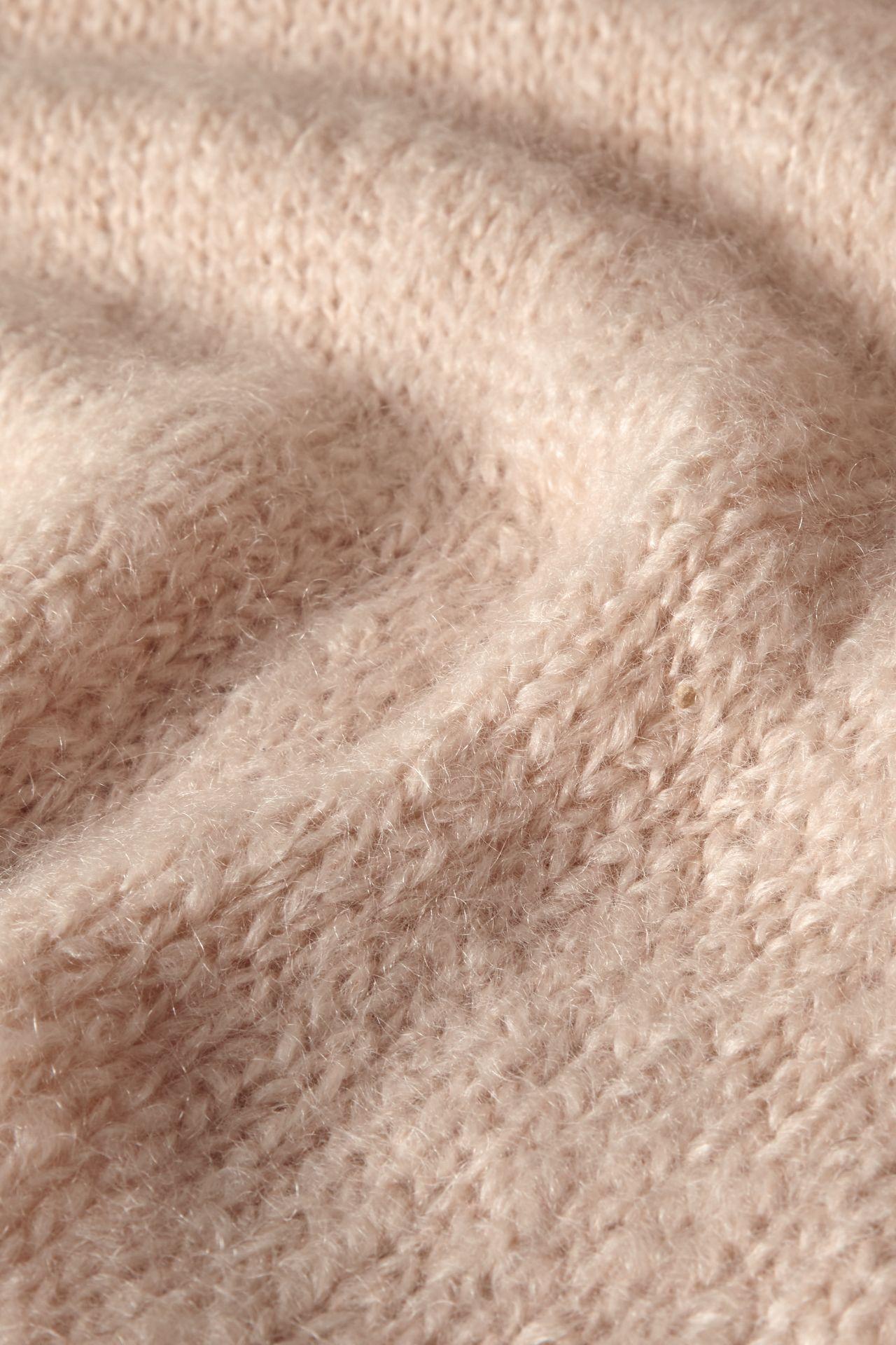 Mohair blossom knit detail.