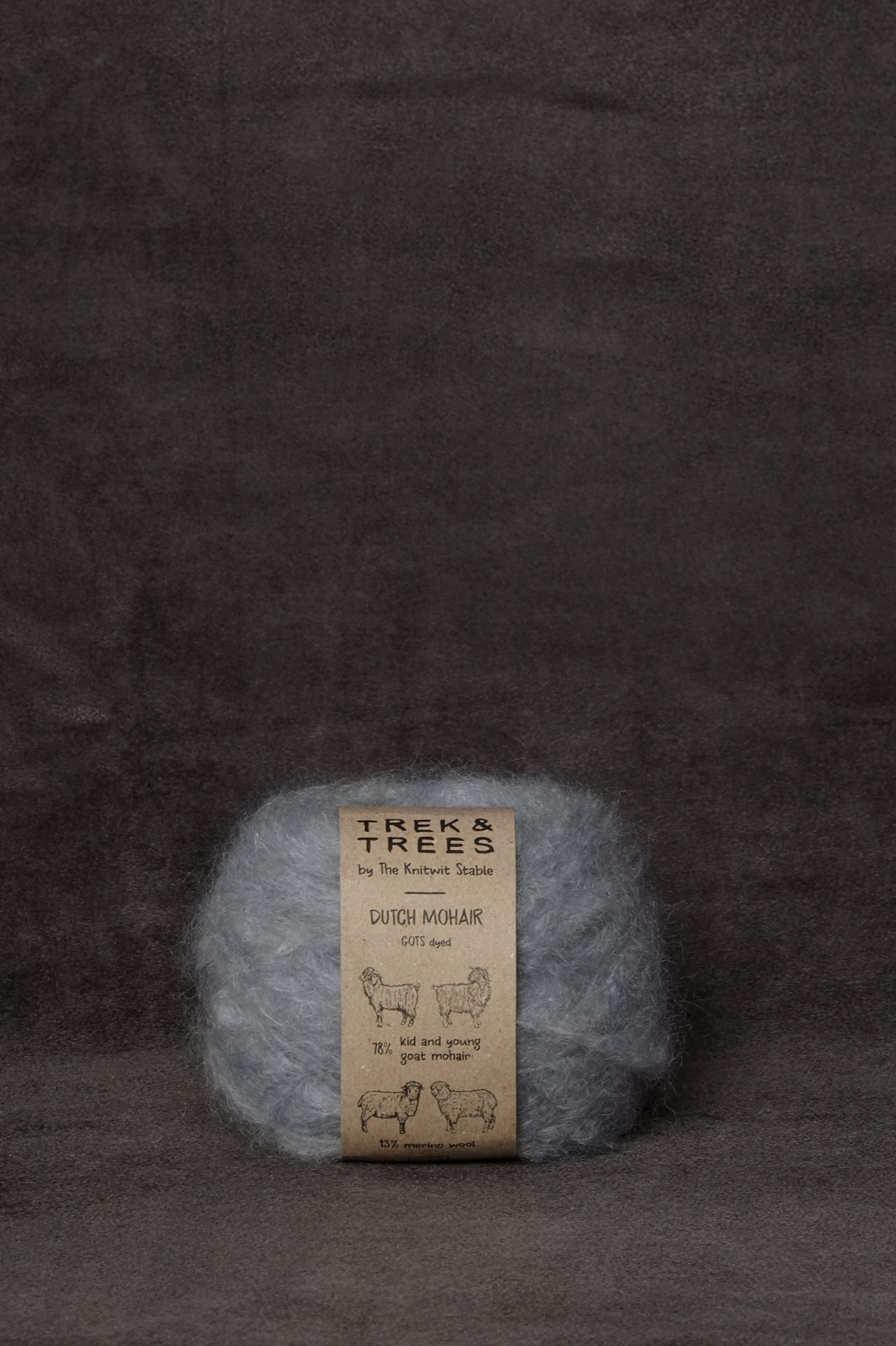 Mohair light blue garen packshot.