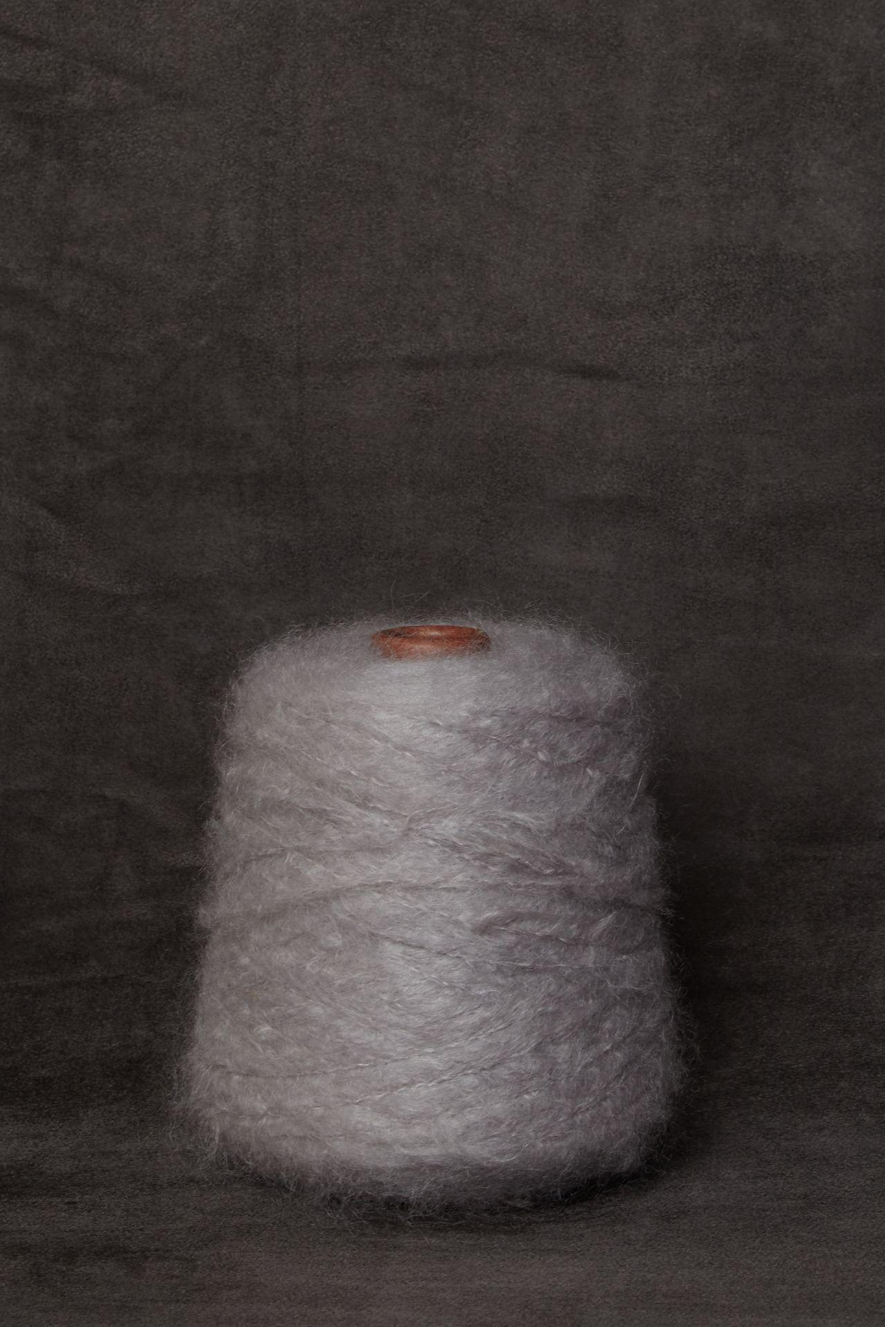 Mohair light gray garen packshot.