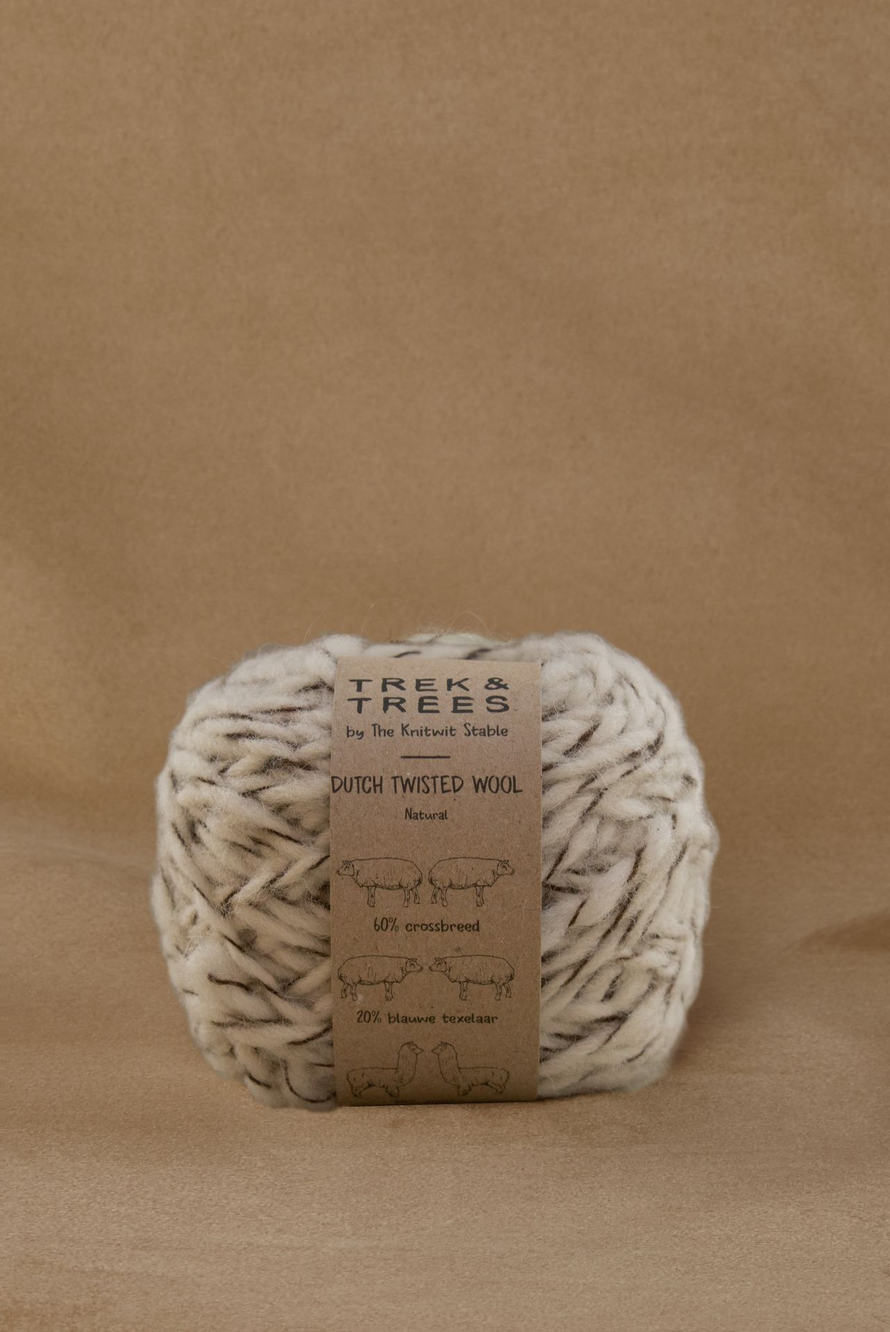 Dutch twisted wool yarn.