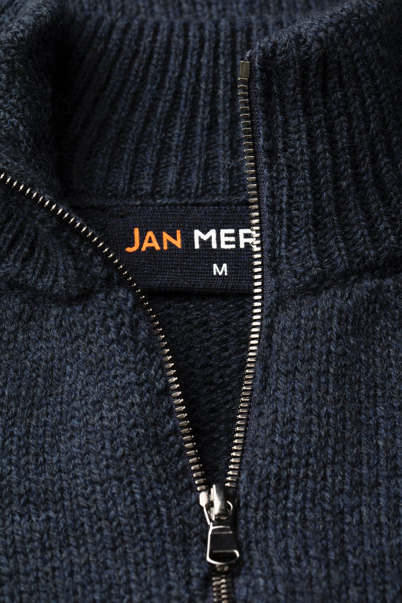 Joe Merino sweater detail neck.