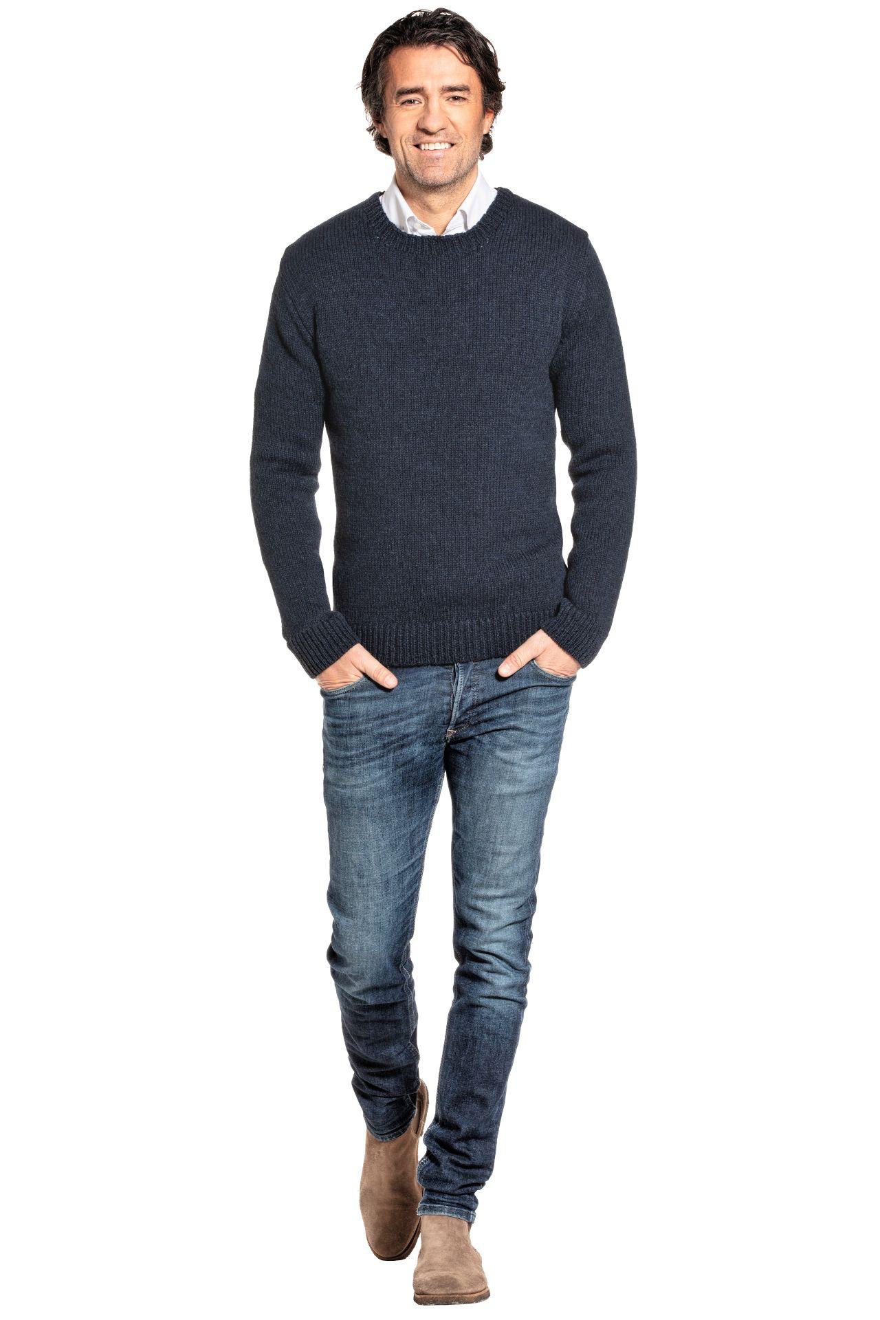 Joe Merino sweater worn by model.