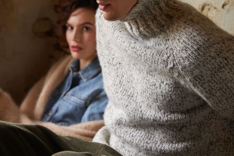 Jeroen unisex sweater wool mix and alpaca detail knit.