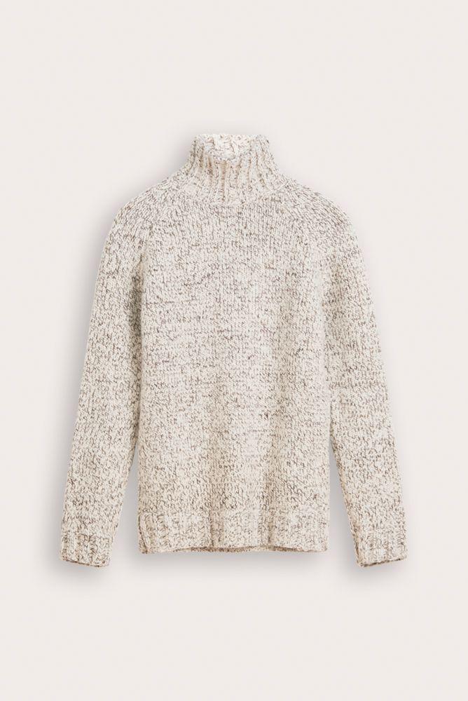 Jeroen unisex sweater natural wool mix and alpaca packshot.