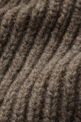 Merino taupe detail knit.