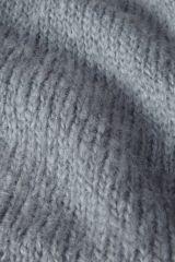 Mohair lichtblauw detail breisel.
